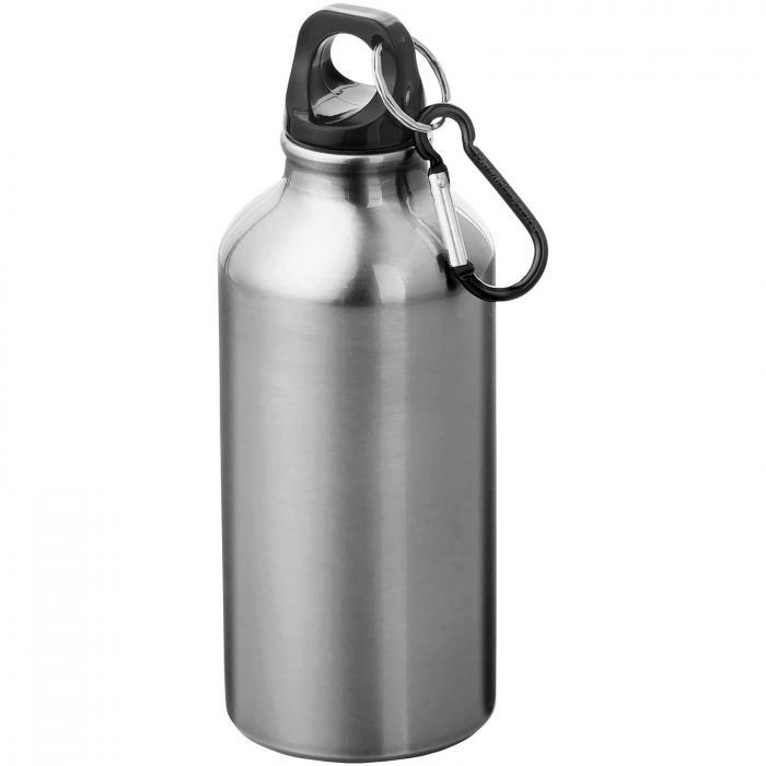 Trinkflasche mit Karabiner   0,35 l   92100002 Silber