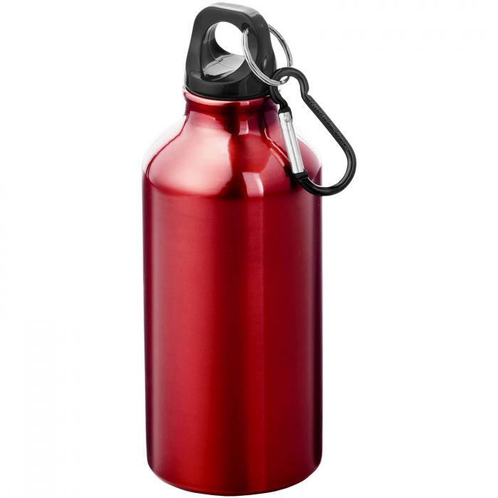 Trinkflasche mit Karabiner   0,35 l   92100002 Rot
