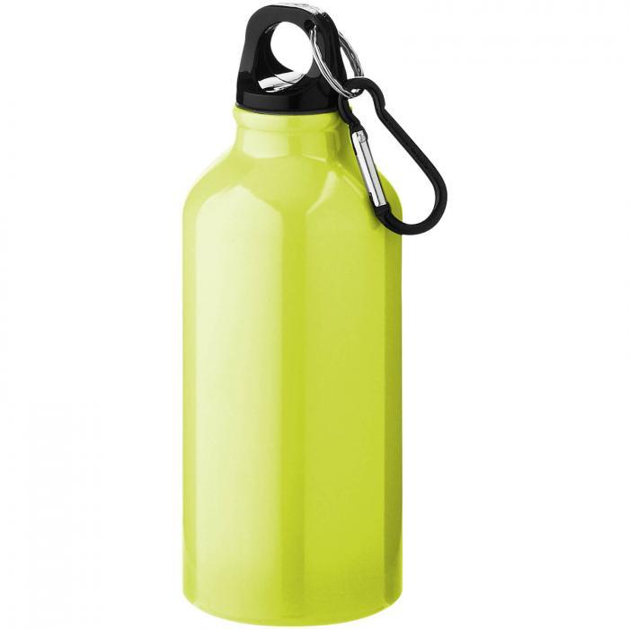 Trinkflasche mit Karabiner   0,35 l   92100002 Gelb fluoreszierend