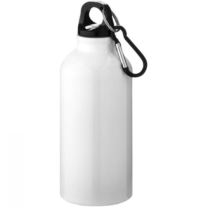 Trinkflasche mit Karabiner   0,35 l   92100002 Weiß