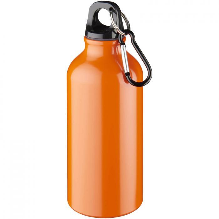 Trinkflasche mit Karabiner   0,35 l   92100002 Orange