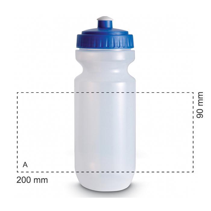 Trinkflasche mit farbigem Deckel | 0,575 l | 8797851