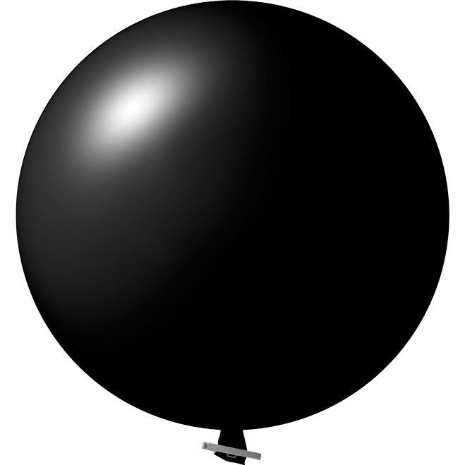 Riesenluftballon | 55 cm | Eyecatcher | 945501 Schwarz