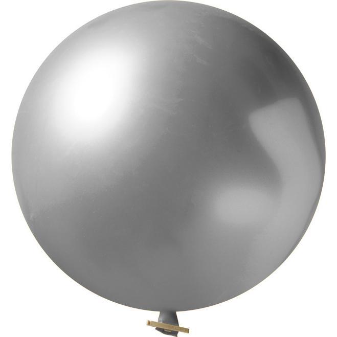 Riesenluftballon | 55 cm | Eyecatcher | 945501 Silber