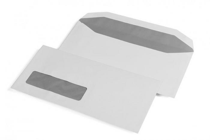 Briefumschlag EA5-6 | Klebestreifen | 429100 Weiß