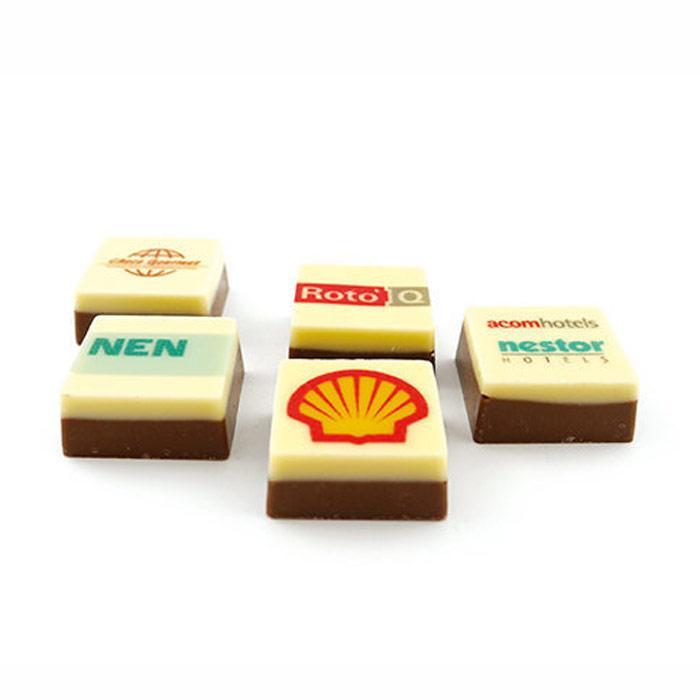 Schokolade mit Logo | 25 x 25 mm | 7051000