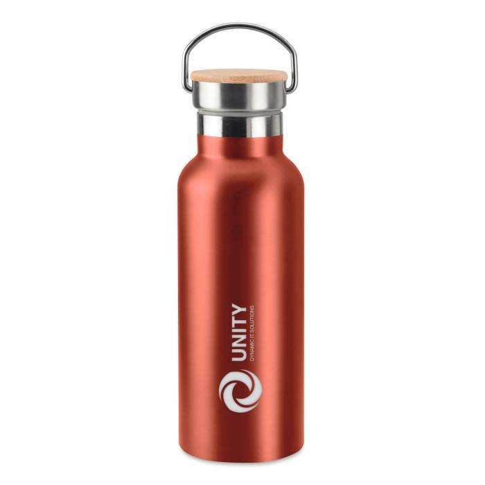 Thermosflasche | Doppelwandig | Edelstahl | Bambus Top 500 ml | 8759431