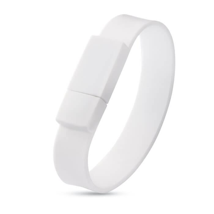 USB-Stick Silikonarmband   DE8791093 Weiß