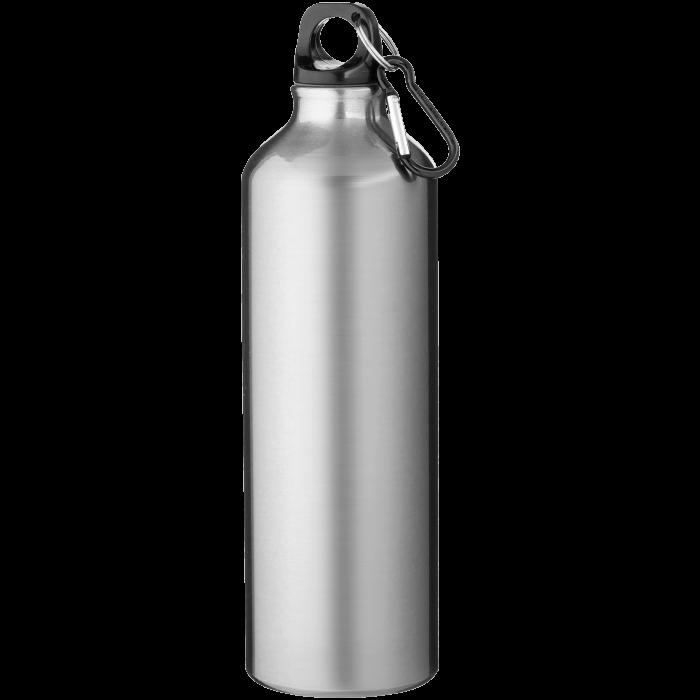 Trinkflasche mit Karabiner | 0,77 l | 92100297 Silber