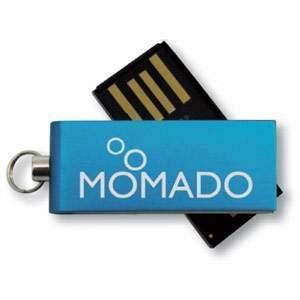 USB-Stick Micro Twist   DE690400 Blau