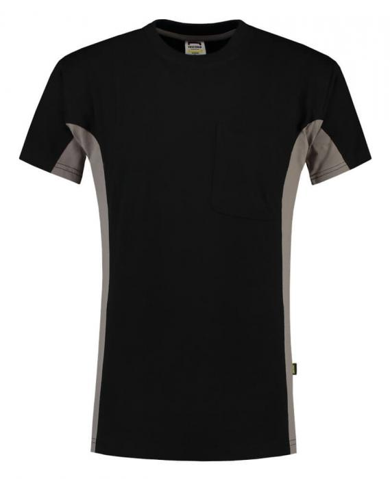 T-shirt Bi-ColorTT2000 | 97TT2000 Schwarz / grau
