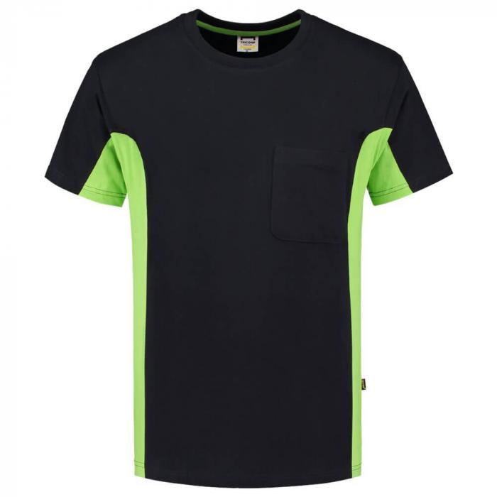 T-shirt Bi-ColorTT2000 | 97TT2000 Schwarz / Lime