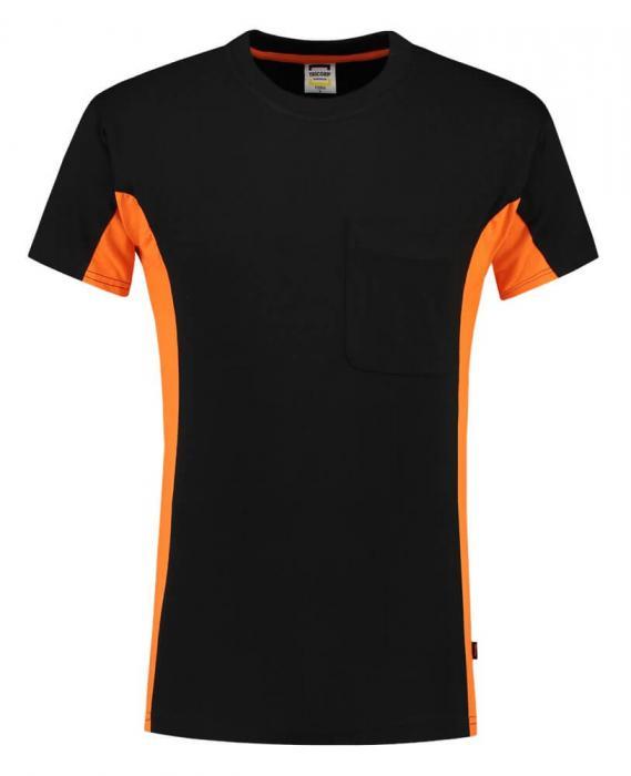 T-shirt Bi-ColorTT2000 | 97TT2000 schwarz/orange
