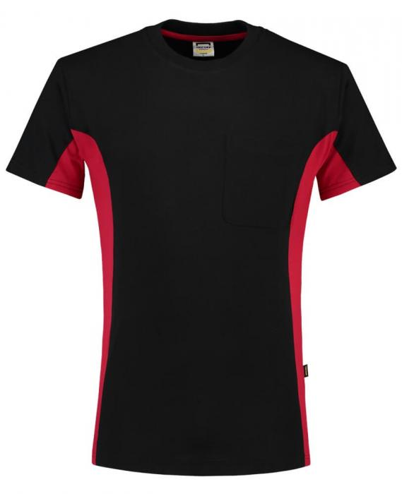 T-shirt Bi-ColorTT2000 | 97TT2000 schwarz/rot