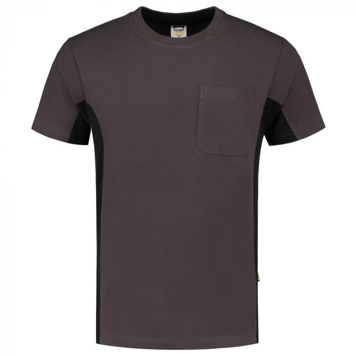 T-shirt Bi-ColorTT2000 | 97TT2000 Dunkelgrau/Schwarz