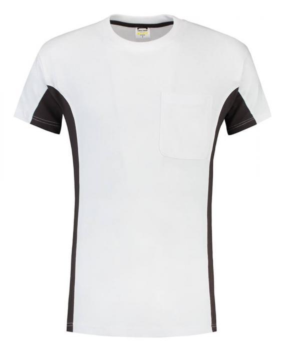 T-shirt Bi-ColorTT2000 | 97TT2000 weiß/ dunkelgrau