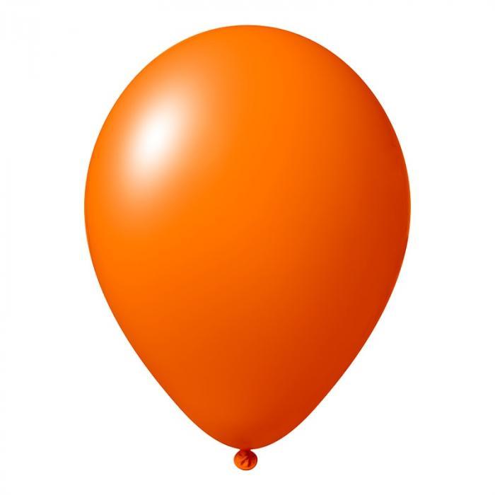 Luftballon mit Logo   30 cm   Schnell   14a1001s Orange