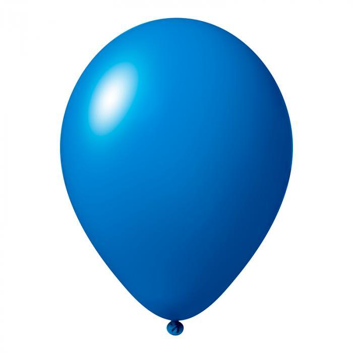 Luftballon mit Logo   30 cm   Schnell   14a1001s Mittel Blau