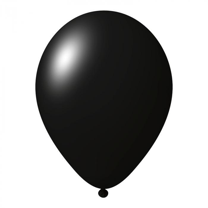 Luftballon mit Logo   30 cm   Schnell   14a1001s Schwarz