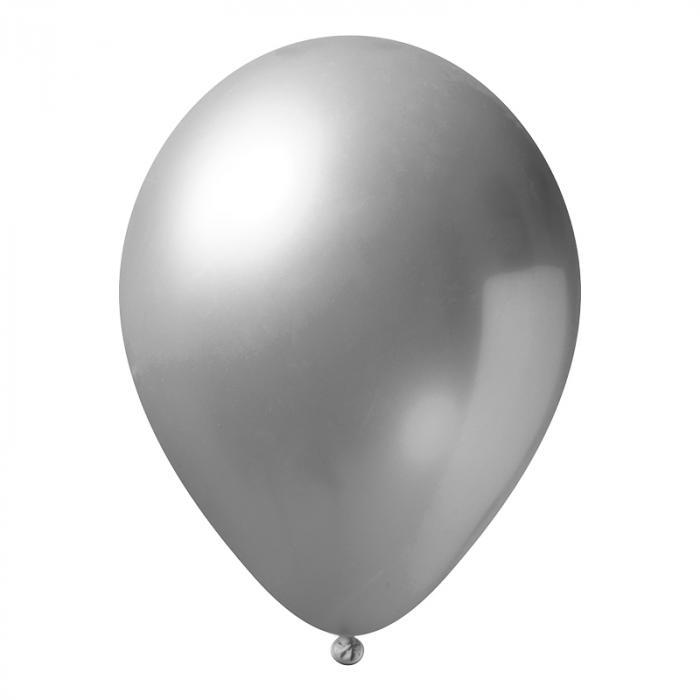 Luftballon mit Logo   30 cm   Schnell   14a1001s Grau