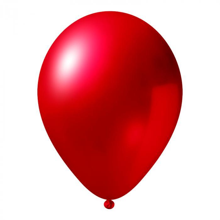 Luftballon mit Logo   30 cm   Schnell   14a1001s Rot