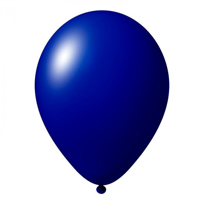 Luftballon mit Logo   30 cm   Schnell   14a1001s Dunkel Blau