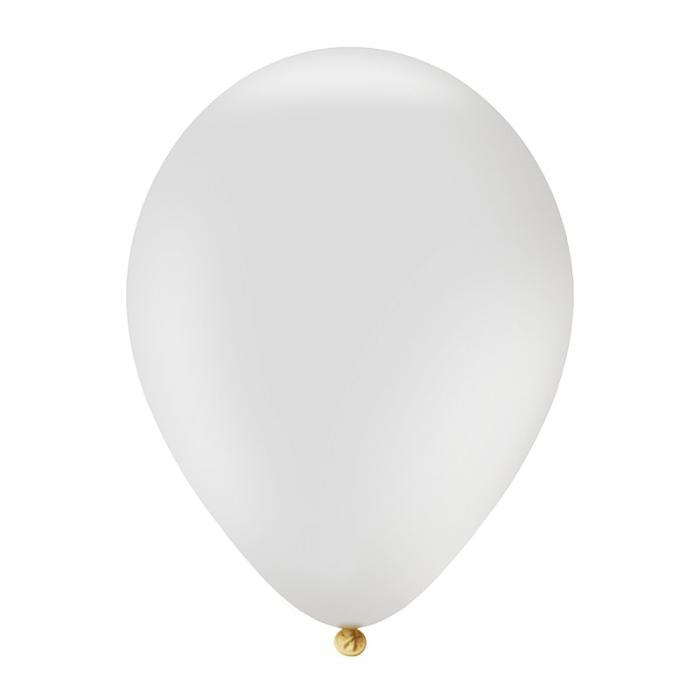 Luftballon mit Logo   30 cm   Schnell   14a1001s Weiß