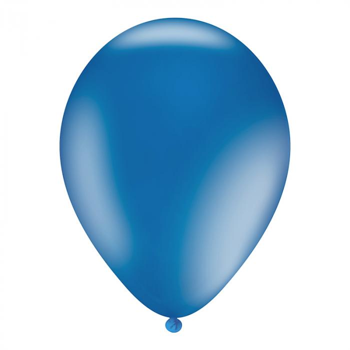 Luftballon mit Logo   30 cm   Schnell   14a1001s Royal Blau