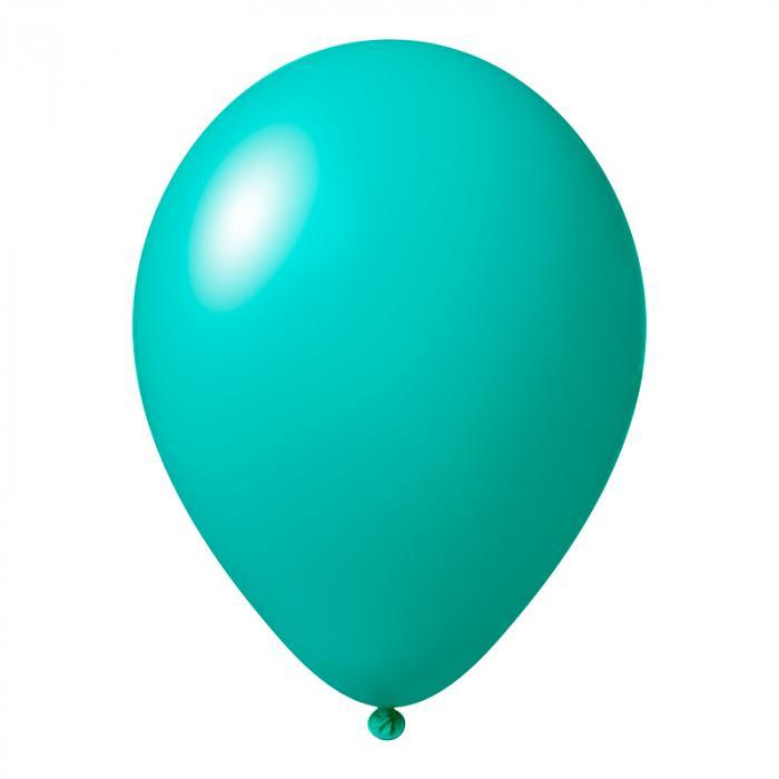 Luftballon mit Logo   30 cm   Schnell   14a1001s Türkis