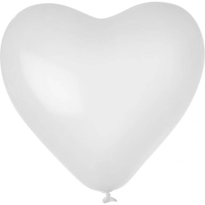 Herz-Luftballon | Einseitig bedruckt | 14H80 Transparent