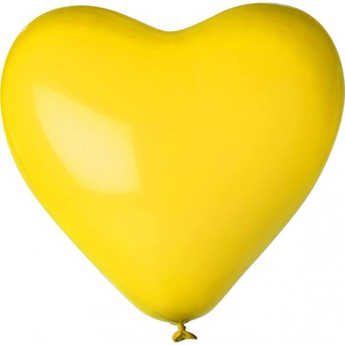 Herz-Luftballon | Einseitig bedruckt | 14H80 Gelb