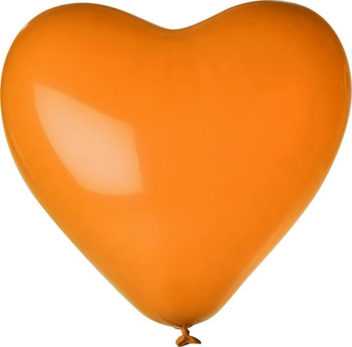 Herz-Luftballon | Einseitig bedruckt | 14H80 Orange