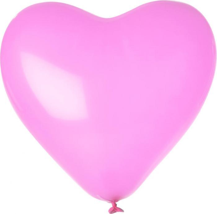 Herz-Luftballon | Einseitig bedruckt | 14H80 Pink