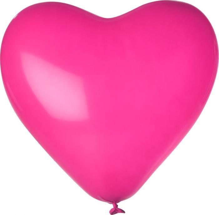Herz-Luftballon | Einseitig bedruckt | 14H80 Magenta