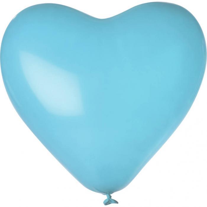 Herz-Luftballon | Einseitig bedruckt | 14H80 Hellblau