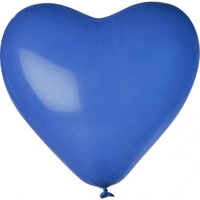 Herz-Luftballon | Einseitig bedruckt | 14H80 Blau