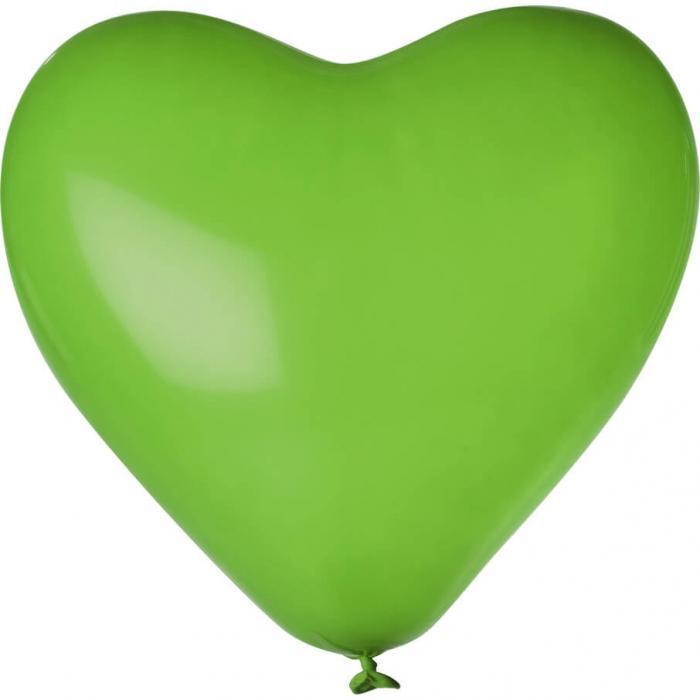 Herz-Luftballon | Einseitig bedruckt | 14H80 Grün