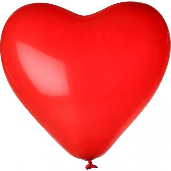 Herz-Luftballon | Einseitig bedruckt | 14H80 Rot