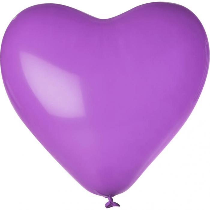 Herz-Luftballon | Einseitig bedruckt | 14H80 Violett