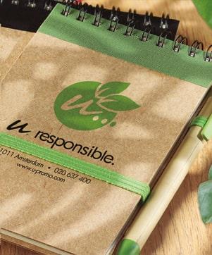Bedruckte Notizbücher Eco