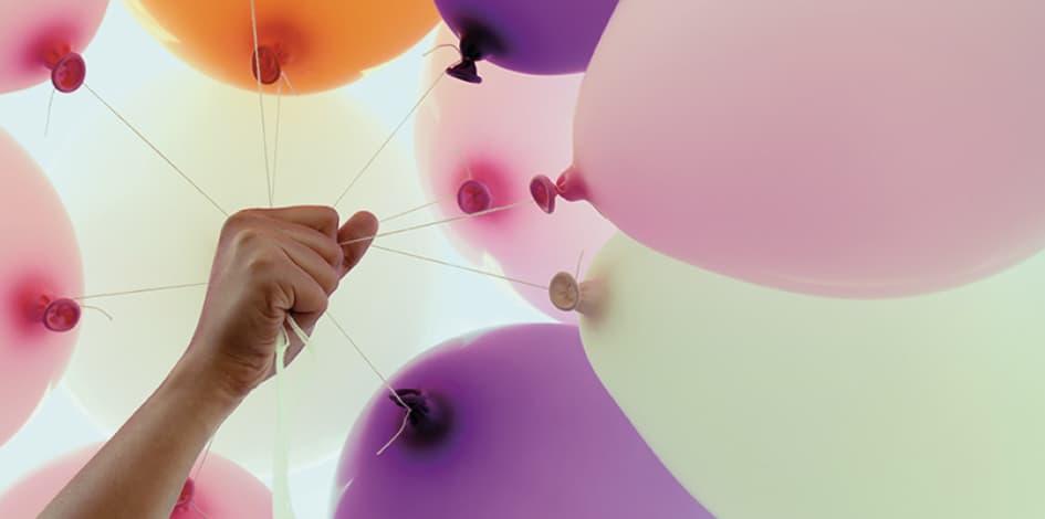 Luftballons mit Logo Maxilia